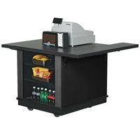 Vollrath 75679BLK V-Class Black ACM Mobile Cashier / Merchandising Station