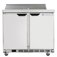 Beverage-Air SPE36HC-08-23 Elite Series 36 inch 2 Door ADA Height Refrigerated Sandwich Prep Table