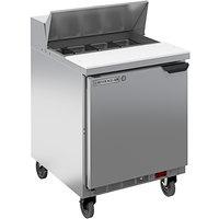Beverage-Air SPE27HC-B-24-23 Elite Series 27 inch 1 Door ADA Height Refrigerated Sandwich Prep Table