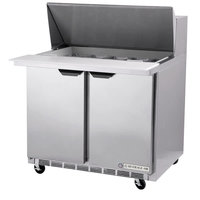Beverage-Air SPE36HC-10-23 Elite Series 36 inch 2 Door ADA Height Refrigerated Sandwich Prep Table