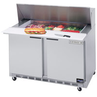 Beverage-Air SPE48HC-12-23 Elite Series 48 inch 2 Door ADA Height Refrigerated Sandwich Prep Table