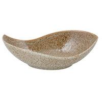10 Strawberry Street WTR-16CANOEBWL-TE Tiger Eye 48 oz. Porcelain Canoe Bowl - 6/Pack