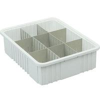 Metro MTB93060W 23 inch x 18 inch x 6 inch White Divider Tote Box