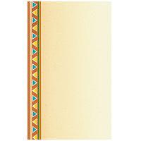 8 1/2 inch x 14 inch Menu Paper - Southwest Themed Fiesta Border Design Left Insert - 100/Pack