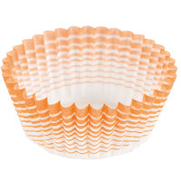 Ateco 6406 1 inch x 5/8 inch Orange Striped Baking Cups (August Thomsen) - 200/Box