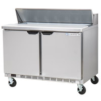 Beverage-Air SPE48HC-12 Elite Series 48 inch 2 Door Refrigerated Sandwich Prep Table