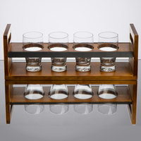 Core by Acopa Tasting Flight Set - 4 Barbary Sampler Glasses with Bridge Taster Caddy