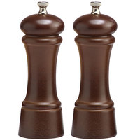 Chef Specialties 06102 Professional Series 6 inch Customizable Elegance Walnut Pepper Mill and Salt Mill Set