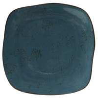 Tuxton GGE-502 TuxTrendz Artisan Geode Azure 11 inch China Square Plate - 12/Case