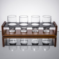 Core by Acopa Tasting Flight Set - 4 Barbary Sampler Glasses with Drop-in Taster Caddy