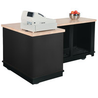 Vollrath 75701BLK V-Class Black ACM Right L-Shaped Mobile Cashier Station