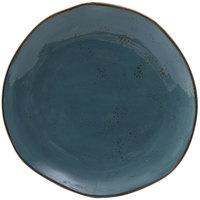 Tuxton GGE-006 TuxTrendz Artisan Geode Azure 10 1/4 inch China Plate - 12/Case