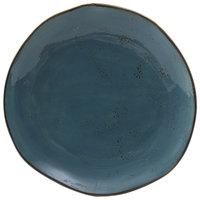 Tuxton GGE-008 TuxTrendz Artisan Geode Azure 11 5/8 inch China Plate - 12/Case