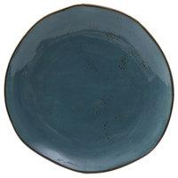 Tuxton GGE-002 TuxTrendz Artisan Geode Azure 6 1/2 inch China Plate - 24/Case