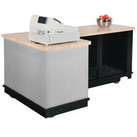 Vollrath 75701SLV V-Class Silver ACM Right L-Shaped Mobile Cashier Station