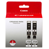 Canon 6432B004 High-Yield Black Inkjet Printer Ink Cartridge - 2/Pack