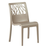 Grosfillex US116181 Vegetal Taupe Stacking Side Chair