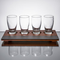 Core by Acopa Tasting Flight Set - 4 Barbary Sampler Glasses with Write-On Taster Board