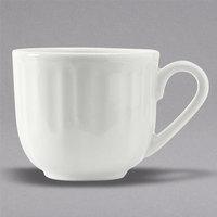 Tuxton SCF-030 TuxTrendz Charleston Porcelain White 3 oz. Scalloped Edge China Demitasse Cup - 36/Case