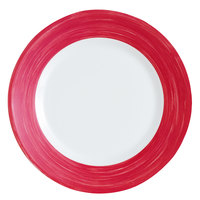 Arcoroc H2685 Opal Brush Cherry 7 1/2 inch Side Plate by Arc Cardinal - 24/Case