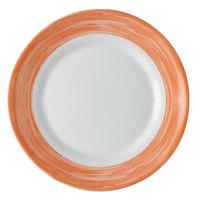 Arcoroc C3774 Opal Brush Orange 10 inch Dinner Plate by Arc Cardinal - 24/Case