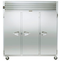 Traulsen G31010 77 inch G Series Three Section Solid Door Reach-In Freezer with Left / Right / Right Hinged Doors - 69 cu. ft.
