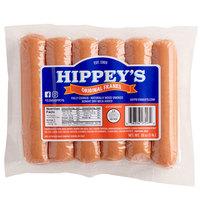 Hippey's 1 lb. Pack 6/1 Size Regular Franks - 12/Case