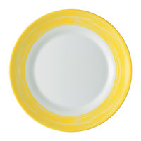 Arcoroc C3772 Opal Brush Yellow 10 inch Dinner Plate by Arc Cardinal - 24/Case