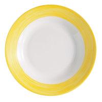 Arcoroc 54757 Opal Brush Yellow 23 oz. Soup Plate by Arc Cardinal - 24/Case