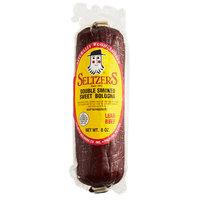 Seltzer's Lebanon Bologna 8 oz. Double Smoked Sweet Bologna Chub   - 15/Case