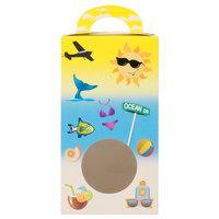 1-Piece 1 lb. Beach Window Candy Box 3 1/2 inch X 3 inch X 6 3/8 inch   - 250/Case