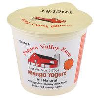 Pequea Valley Farm 6 oz. Mango Yogurt - 6/Case