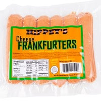 Hippey's 1 lb. Pack 6/1 Size Cheese Franks - 12/Case