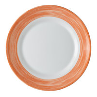 Arcoroc 49138 Opal Brush Orange 7 1/2 inch Side Plate by Arc Cardinal - 24/Case