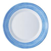 Arcoroc C3773 Opal Brush Blue 10 inch Dinner Plate by Arc Cardinal - 24/Case