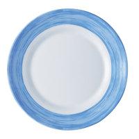 Arcoroc 49150 Opal Brush Blue 7 1/2 inch Side Plate by Arc Cardinal - 24/Case