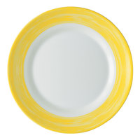 Arcoroc 49139 Opal Brush Yellow 7 1/2 inch Side Plate by Arc Cardinal - 24/Case