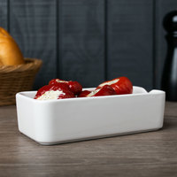 Arcoroc L9561 Mekkano 8 oz. White Porcelain Rectangular Bowl by Arc Cardinal - 24/Case