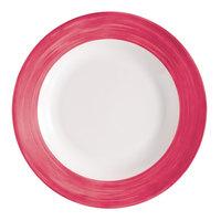 Arcoroc H1769 Opal Brush Cherry 10 inch Dinner Plate by Arc Cardinal - 24/Case