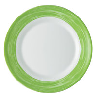 Arcoroc C3769 Opal Brush Green 10 inch Dinner Plate by Arc Cardinal - 24/Case