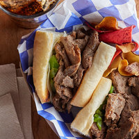 Hometown Pride 6 oz. Chunked and Formed Choice Beef Sandwich Slices - 10 lb.