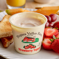 Pequea Valley Farm 6 oz. Strawberry Yogurt - 6/Case