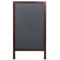 Aarco MA-1B 42 inch x 24 inch Cherry A-Frame Sign Board with Black Write On Chalk Board
