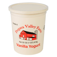 Pequea Valley Farm 32 oz. Vanilla Yogurt - 6/Case