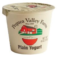 Pequea Valley Farm 6 oz. Plain Yogurt - 6/Case