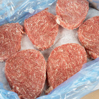 Devault Foods 4 oz. 3D Breakapart Philadelphia Style Raw Chunked and Formed Steak - 40/Case