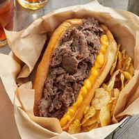 Devault Foods 4 oz. 3D Breakapart Philadelphia Style Raw Chunked and Formed Steak - 40/Case