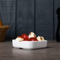 Arcoroc L9548 Mekkano 2 oz. White Porcelain Square Bowl by Arc Cardinal - 24/Case