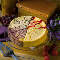 Pellman 60 oz. 9 inch Pre-Cut Cheesecake Choices   - 6/Case