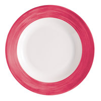 Arcoroc H2684 Opal Brush Cherry 9 1/4 inch Lunch Plate by Arc Cardinal - 24/Case